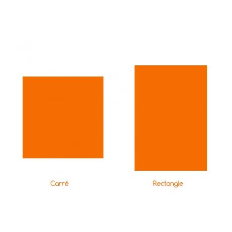 Sticker Extérieur Carré ou Rectangle sur mesure