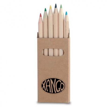 boîte crayons de couleur personnalisé avec logo