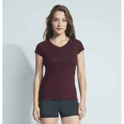 T-shirt femme Sol's / Moon Col V