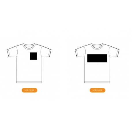 Marquage t-shirt  une recto / verso logo