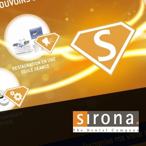 Création design et développement du site web Sirona ADF