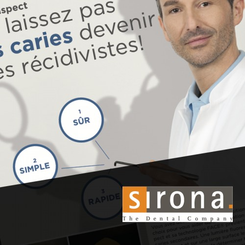 Design affiche Sirona France