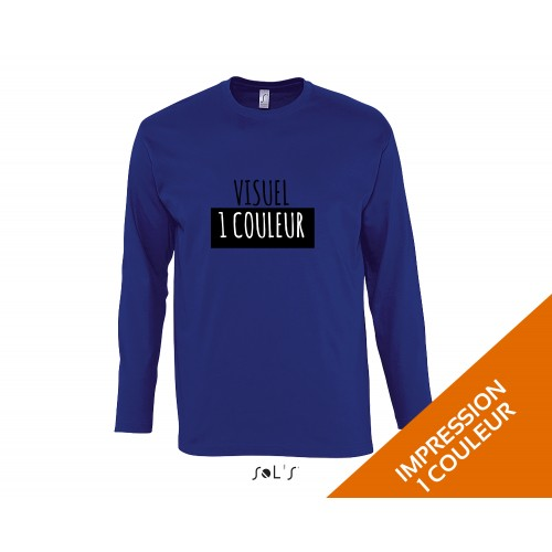 t-shirt personnalisé sol's / coton blanc / Manche longue Monarch
