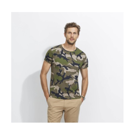t shirt camouflage homme / camp